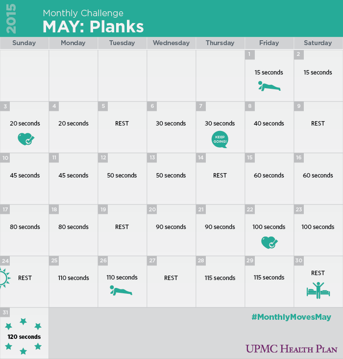 30 Day Plank Challenge Upmc Health Plan